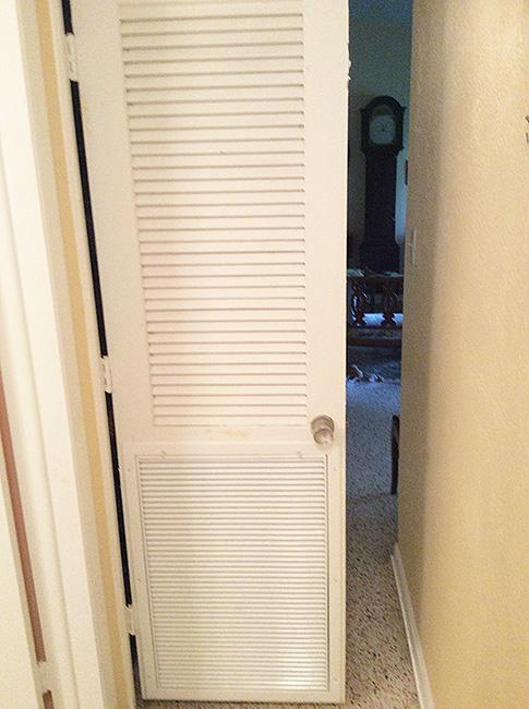 Hvac System Closet Louvered Door3